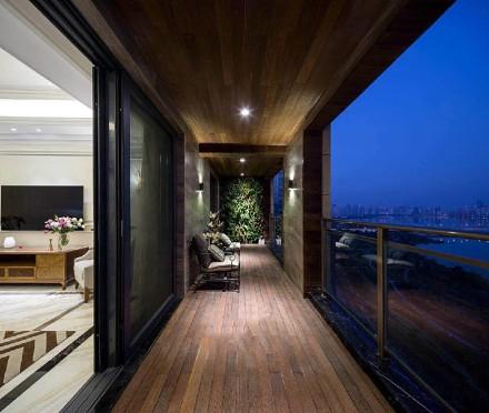 150㎡简欧风,家就是这样的温馨舒适阳台1图