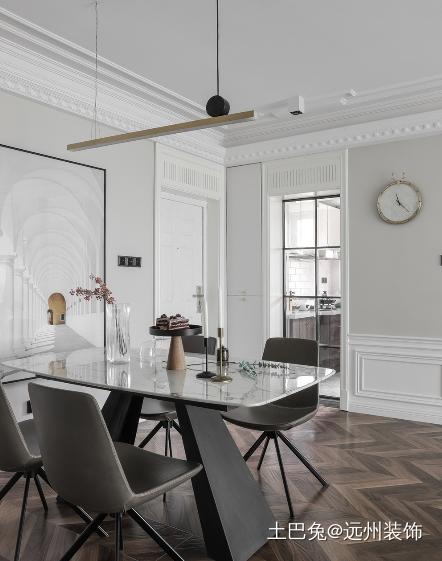 人对风格的要求即使是多方面的混搭厨房窗帘中式现代餐厅设计图片赏析