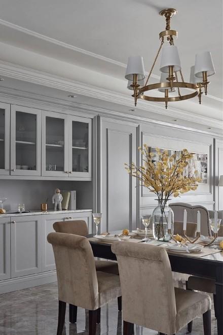 126㎡休闲美式风格住宅厨房