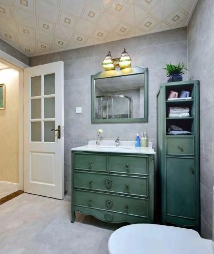 优雅美式装修,书房设计实用到爆!卫生间