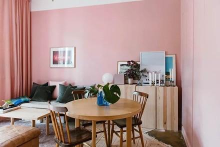 粉色系单身公寓治愈你的少女心厨房