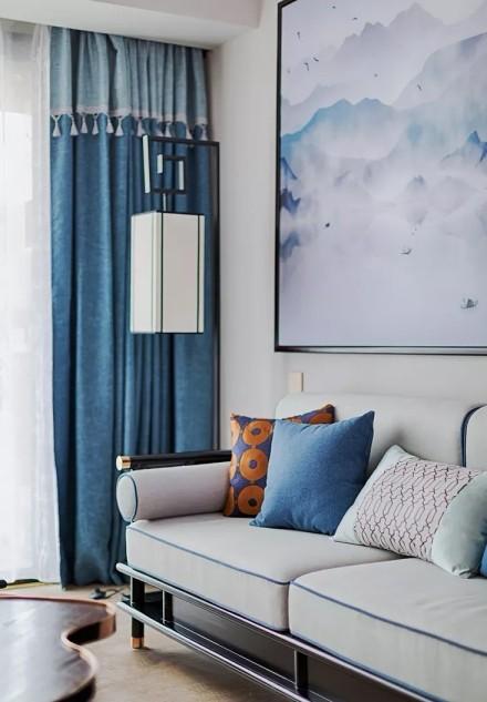 125㎡新中式,简洁经典的东方元素客厅