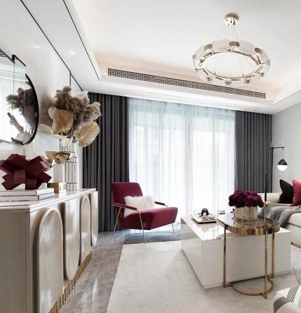 这是一场视觉盛宴,典雅,轻奢且精致!客厅