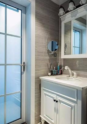 轻奢美式风格,用蓝色打造浪漫幸福爱巢!卫生间美式经典设计图片赏析