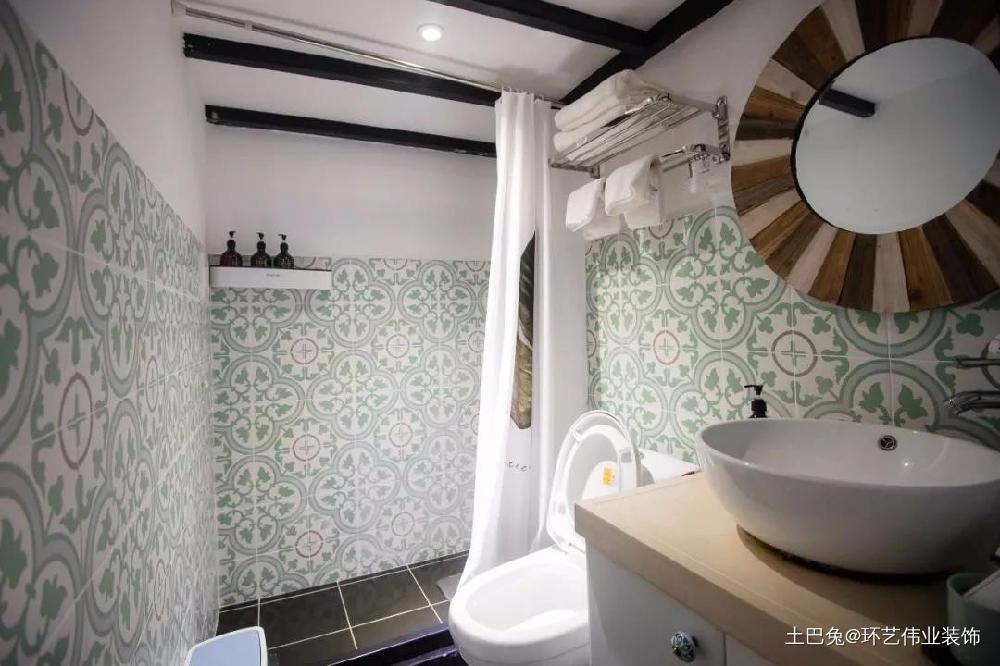 26㎡单身公寓轻松get摩洛哥风!卫生间现代简约卫生间设计图片赏析