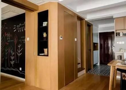 115㎡北欧风复式装修,一室四用玄关