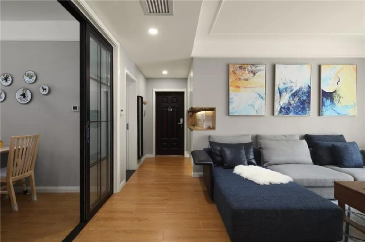 100平3房厨房窗户吧台设计,太个性实用