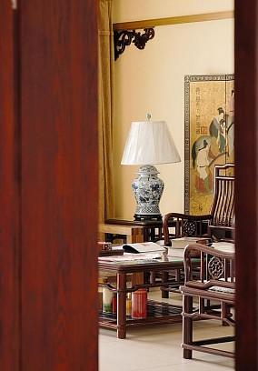 120㎡三居人生的禅意客厅中式现代设计图片赏析
