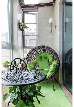 我家120㎡欧美风比邻居140㎡还敞亮阳台欧式豪华设计图片赏析