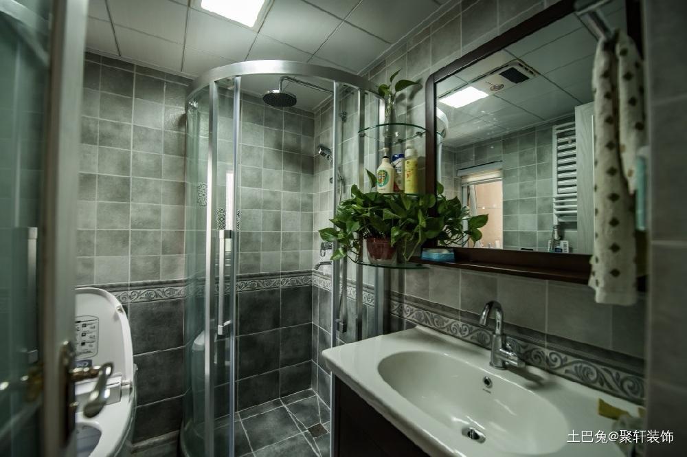 阳光小筑·87㎡北欧风卫生间洗漱台北欧极简卫生间设计图片赏析