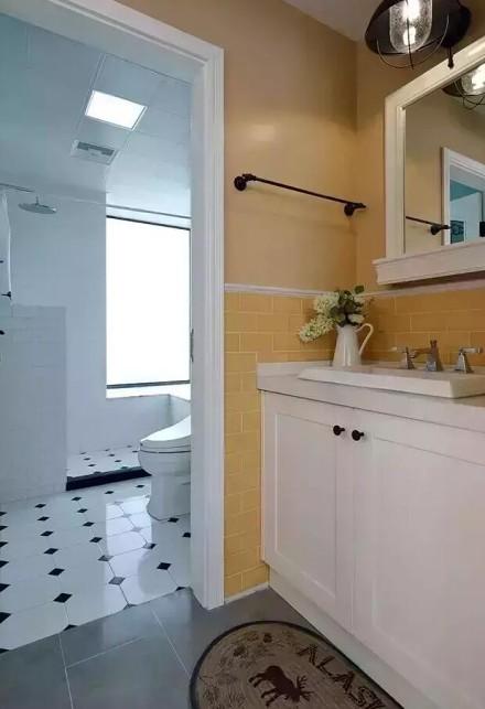 美过样板间100㎡混搭三居室卫生间