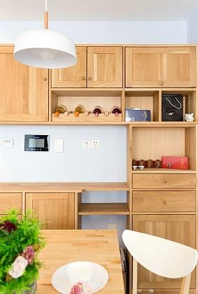 74㎡北欧风格,春风十里的家功能区北欧极简设计图片赏析