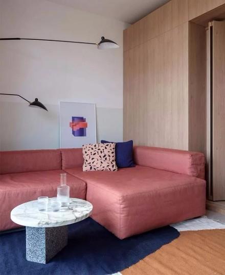 北欧风格一居室,木色家居客厅1图