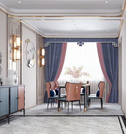 个性精致新中式,18万全包156平米装修厨房