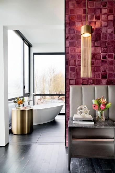 现代风格三居装修设计案例卫生间