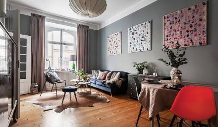 42㎡两人居|现代轻古典的优雅生活客厅