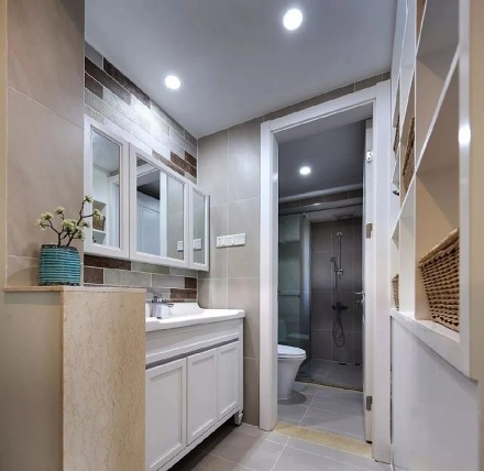 美式风格装修,家每一处鲜明又不落俗套!卫生间