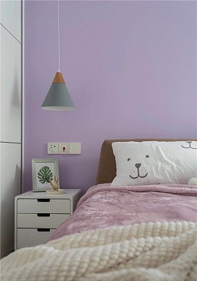 70平打造清新北欧三室卧室北欧极简设计图片赏析