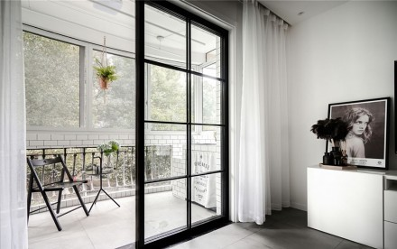 95平2居室北欧极简风格新居阳台