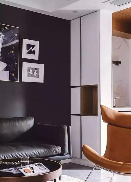 黑白灰经典配色,打造现代新居室客厅