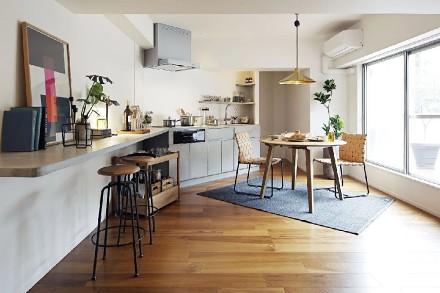 76㎡日式现代公寓顶层厨房