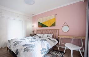 60平米功能完善的三口之家卧室潮流混搭设计图片赏析