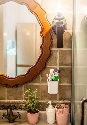 73平米的二居室,美式风格卫生间美式经典设计图片赏析