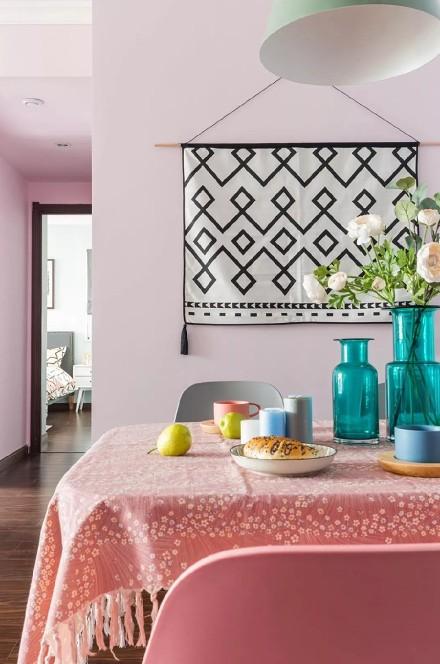 70㎡粉色北欧风,温馨又浪漫!厨房