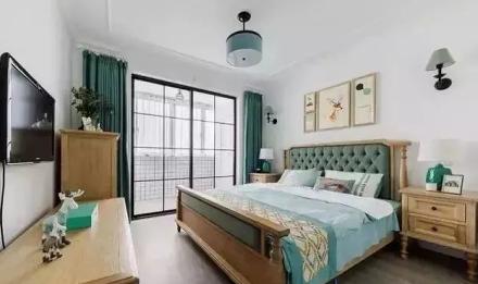98㎡美式清新风,整个家都充满活力!卧室