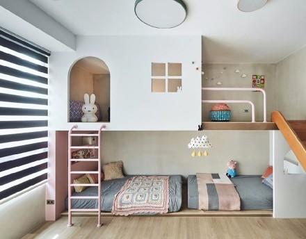 110平复古自然的端景卧室
