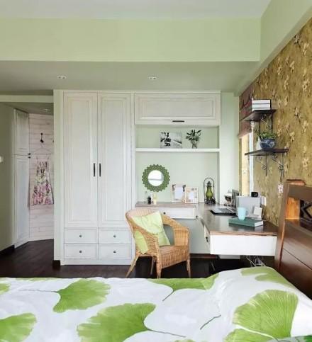 140㎡乡村田园风,打造清新明朗三居室卧室