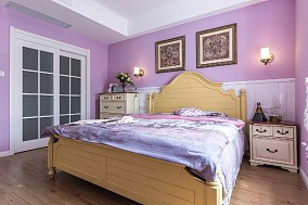 美式心中的归属112m²三居室卧室美式经典设计图片赏析