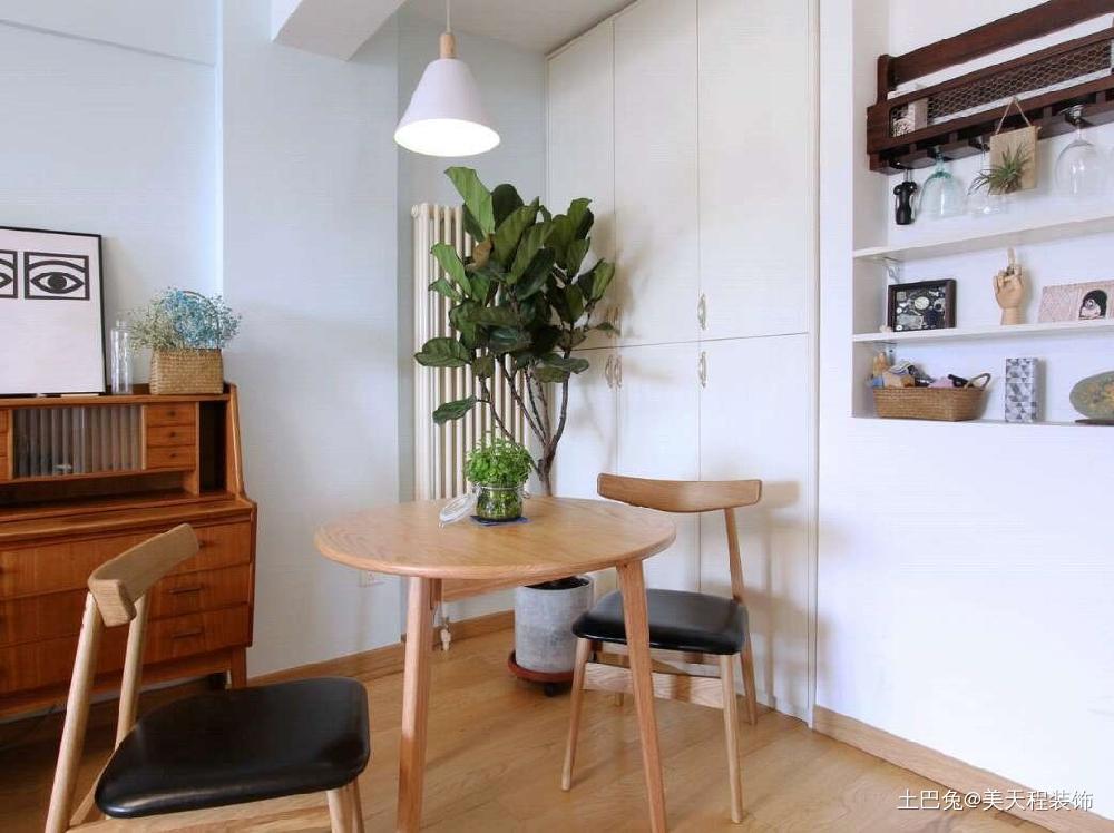 72平米的一居室小户型的合理利用厨房北欧极简餐厅设计图片赏析