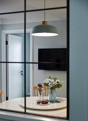 异形空间110平北欧三居厨房北欧极简设计图片赏析