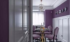 95㎡优雅紫色系轻奢简美厨房现代简约设计图片赏析