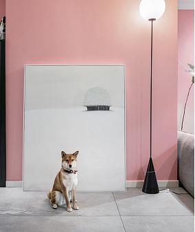 大胆的粉灰绿配色,满满的少女心客厅1图美式田园设计图片赏析