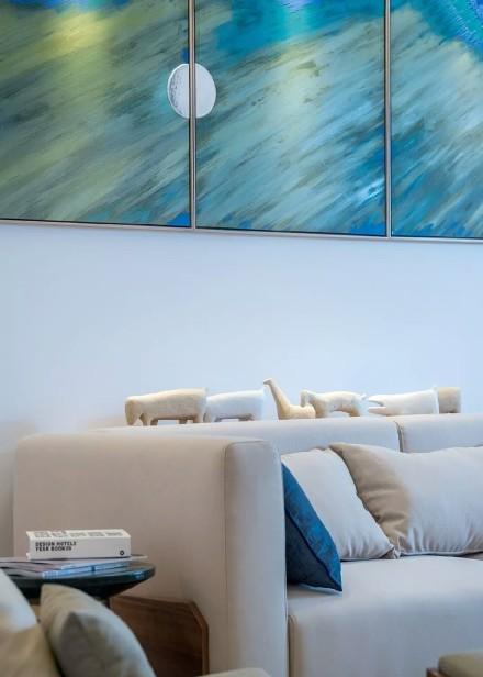 现代日式风格|140平方·三居客厅