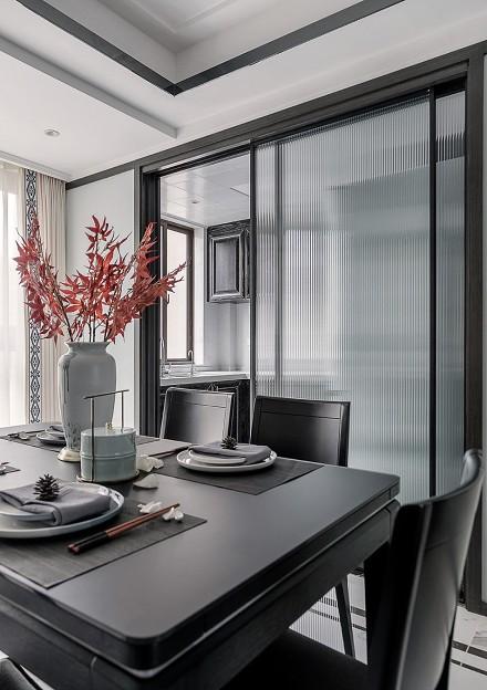 现代新中式沉稳舒适的家~厨房