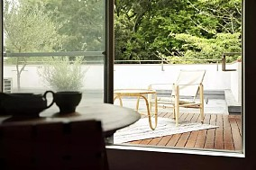 76㎡现代日式,每一处都是视觉享受阳台2图日式设计图片赏析