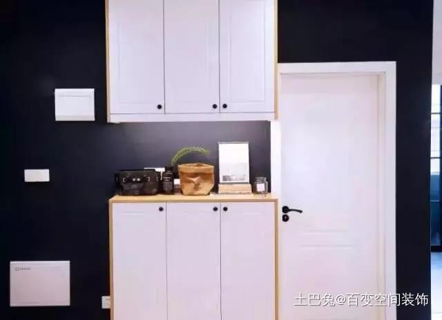 68平米爆改三室阳台改厨房超级实用!玄关现代简约玄关设计图片赏析