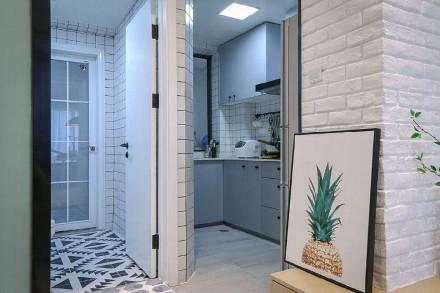 89平米的三居室,北欧风格餐厅
