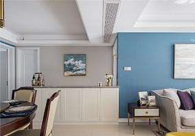 86平米温馨雅致简约美式厨房美式经典设计图片赏析