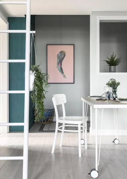 60平日式绘色室内设计厨房
