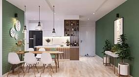 118北欧三室一厅品味居所厨房北欧极简设计图片赏析