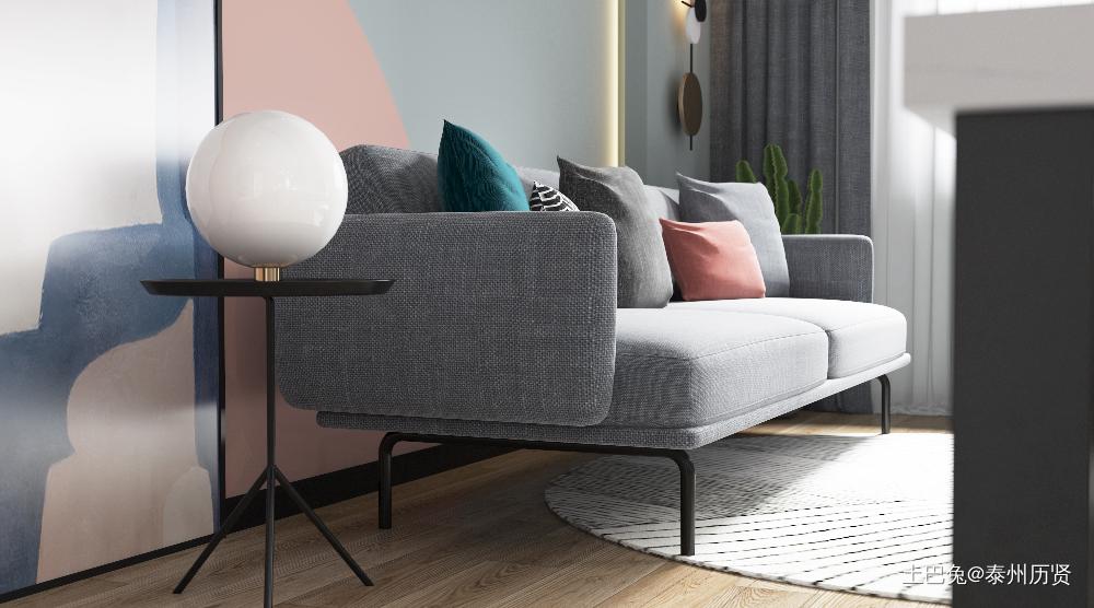 60平方现代简约一室一厅客厅现代简约客厅设计图片赏析