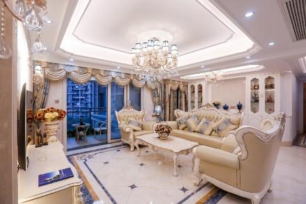 勤诚达·22世纪欧式风格实景案例欣赏客厅