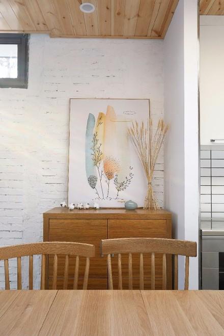 阳光暖暖回忆满满的105平三居室厨房