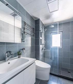 106平~现代美式三室苏女士卫生间美式田园设计图片赏析