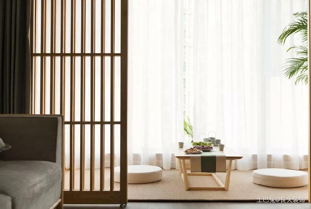 日式风三居浮躁的心也能平静下来!阳台日式阳台设计图片赏析
