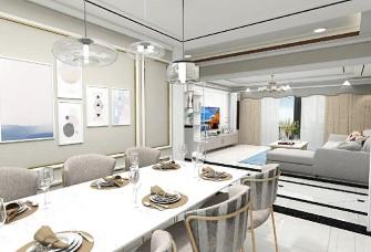 御景龙庭130平三室两厅一厨一卫现代简约